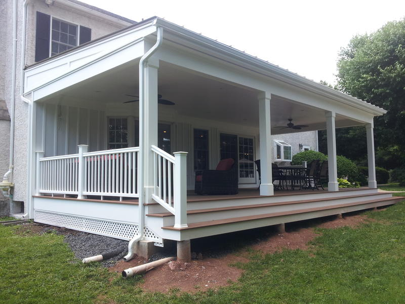 Custom Covered Porch Hurnik Construction