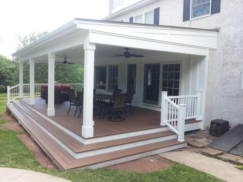 Custom Covered Porch Hurnik Construction