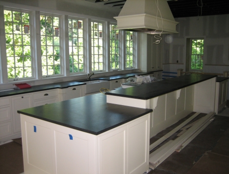 In Process Kitchen Cabinets and Counter Tops