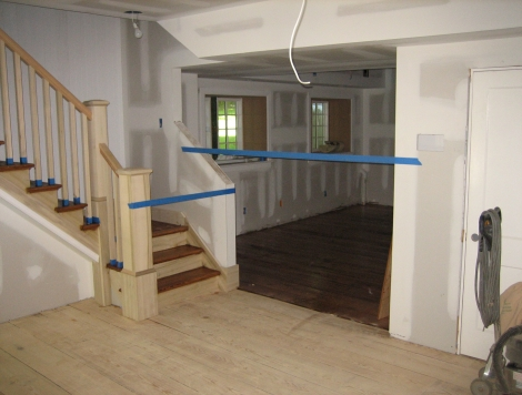 In Process custom stairs, banister, ballast, railing and floor