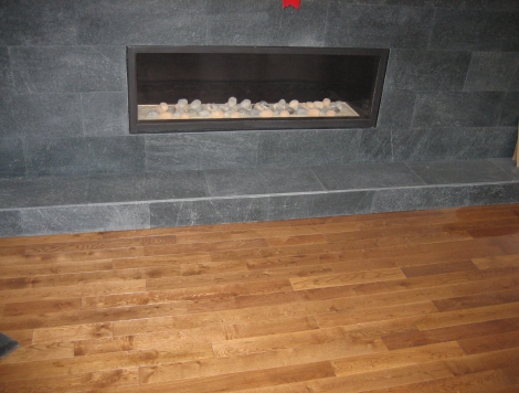 Stone Fireplace and Floor